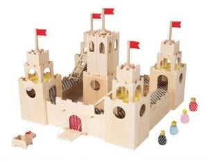 MiO Wooden Castle Montessori Style STEM Learning Modular Wooden Building Playset