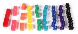 Hand2mind Plastic Rainbow Fraction Tower Linking Cubes