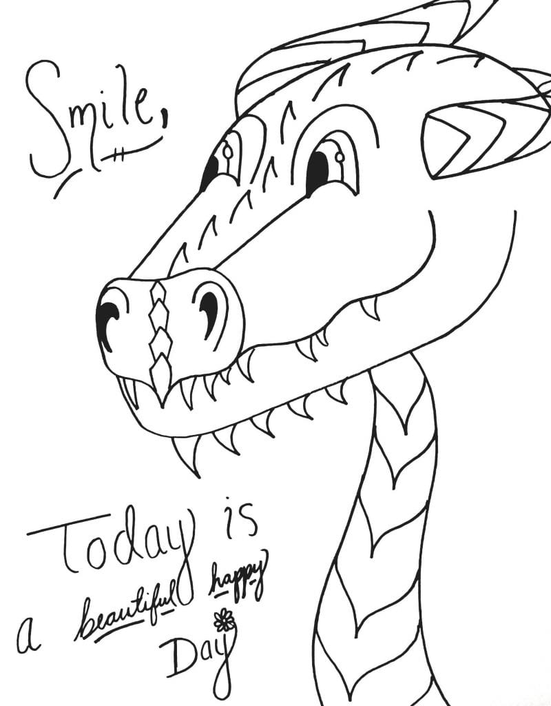 Dinosaur Coloring Page - Todays Beautiful Day