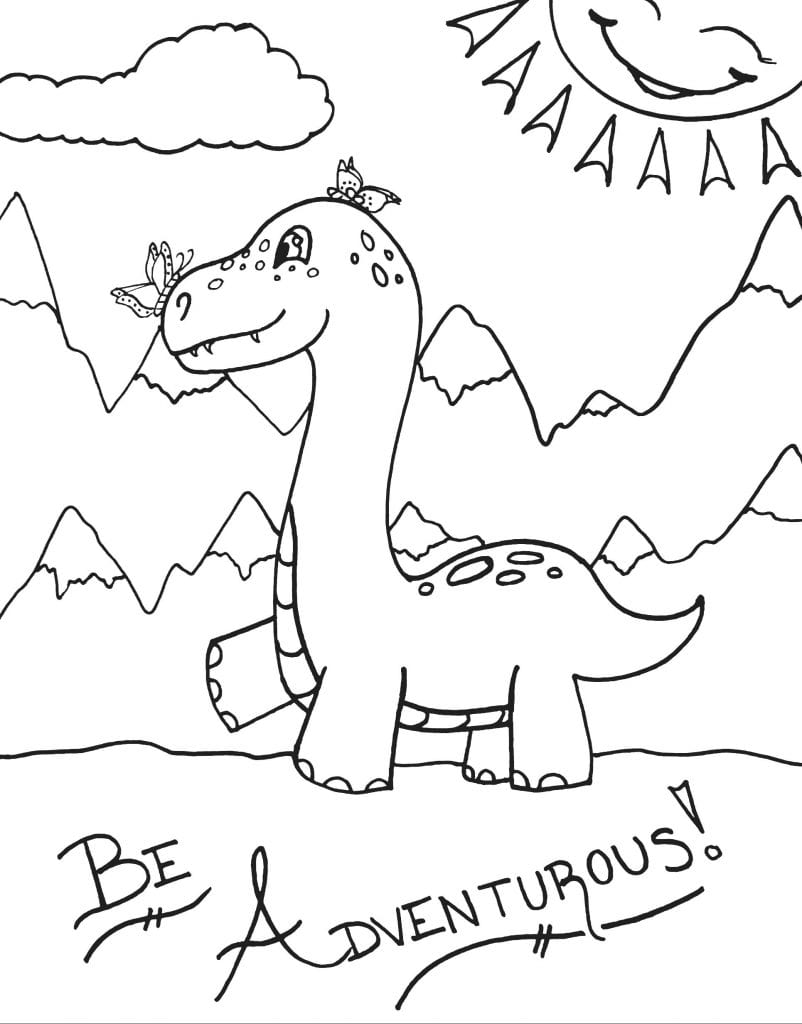 Dinosaur Coloring Page - Be Adventurous