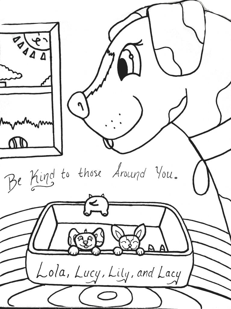 Puppy Coloring Page - Be Kind To Those Around You