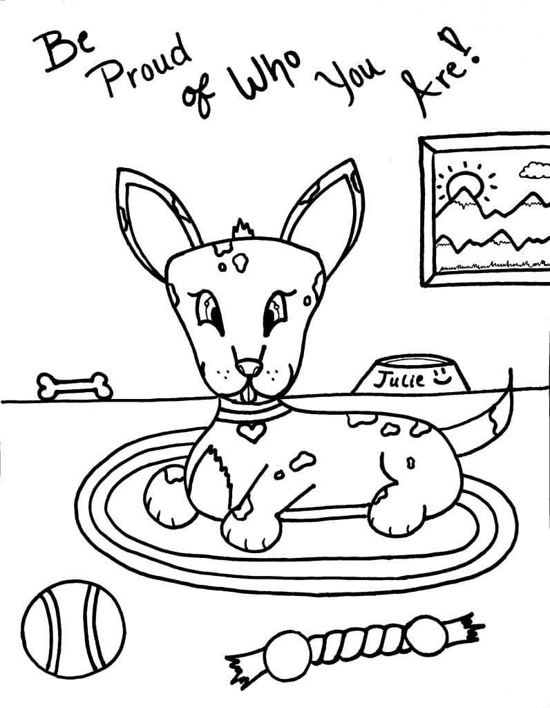 Puppy Coloring Page - Be Proud Of Who You Are