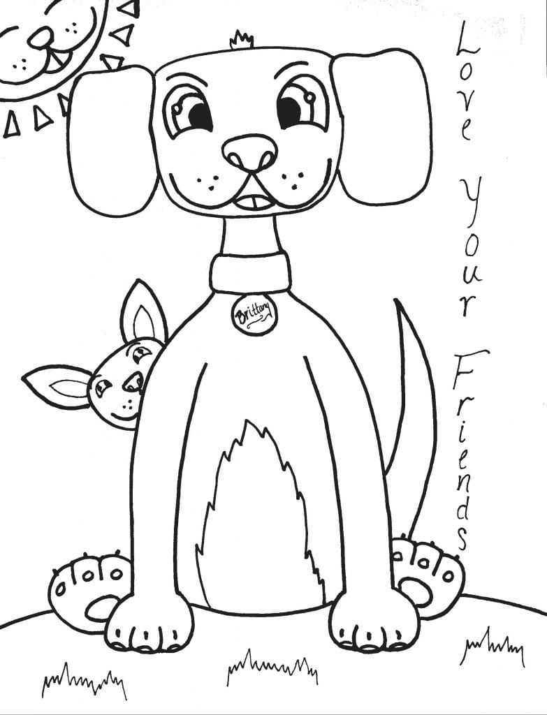 Puppy Coloring Page - Love Your Friends