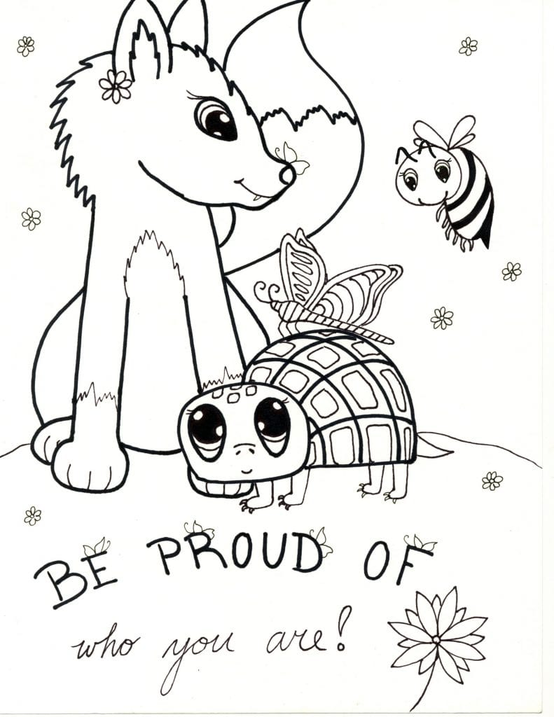 Spring Coloring Page - Be Proud