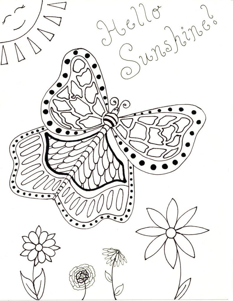 Spring Coloring Page - Hello Sunshine | Raising Smart Girls