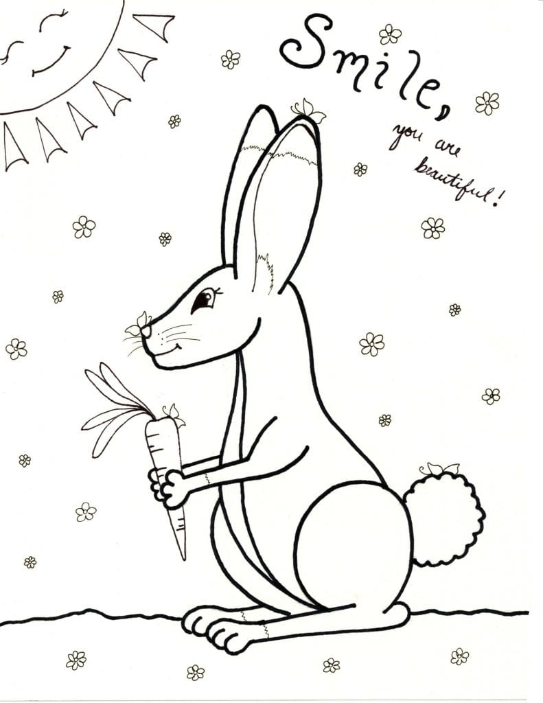 Spring Coloring Page - You Are Beautiful
