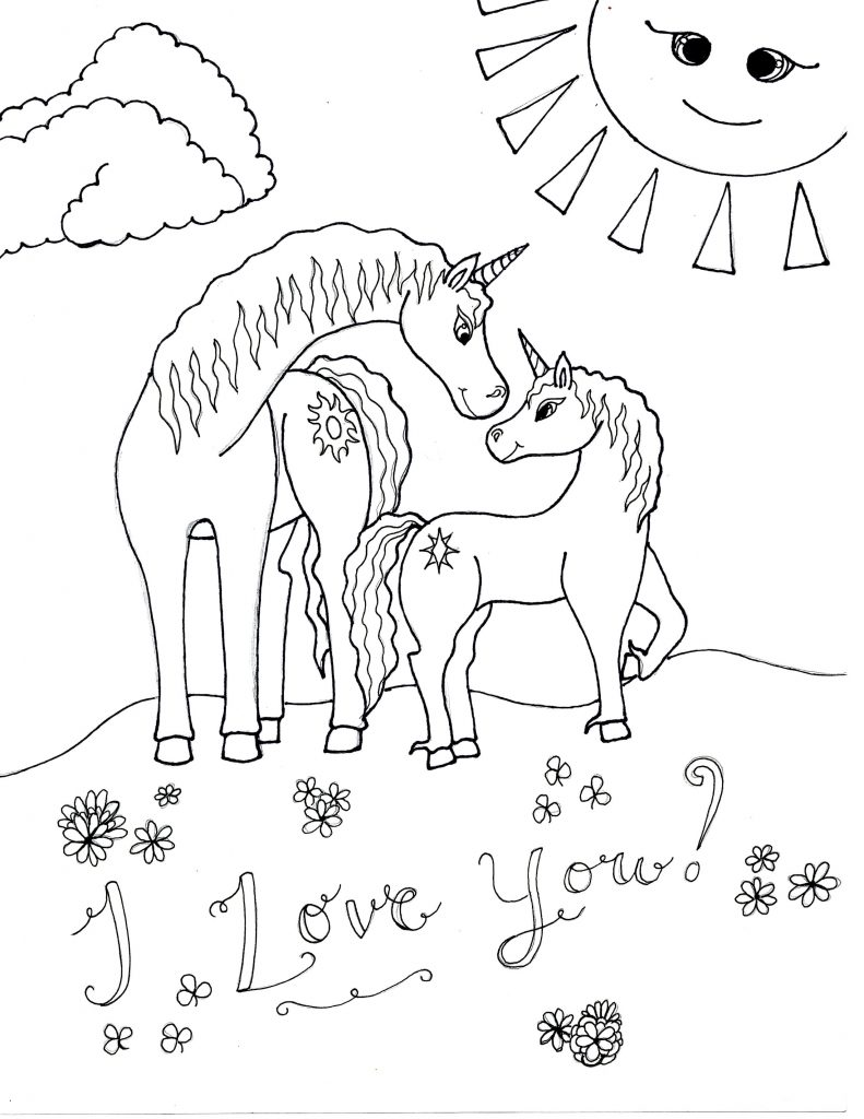 Unicorn Coloring Pages   Raising Smart Girls