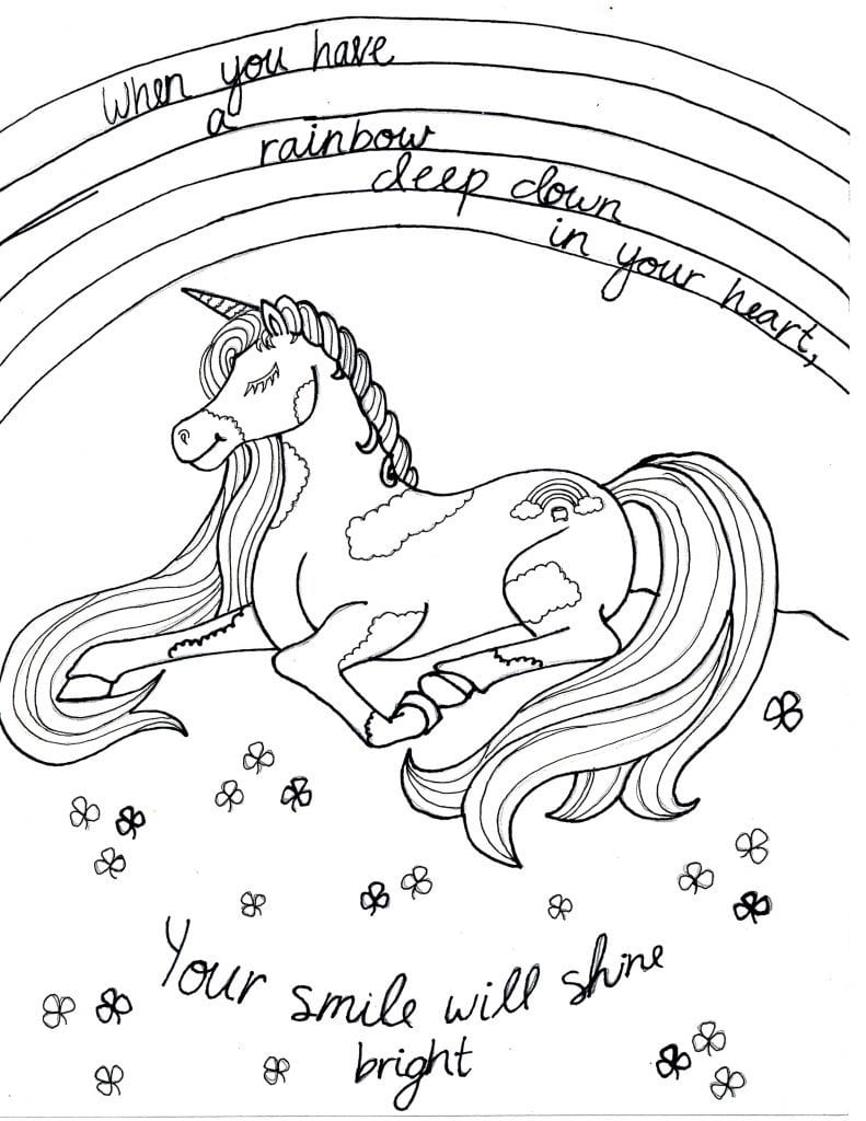 - 10 Beautiful And Inspirational Unicorn Coloring Pages - Raising